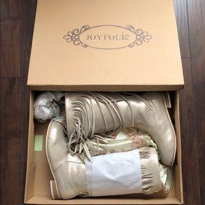 Joyfolie fringe Girls boots size 4 women's Sz 6 🎁